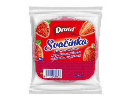 Chlebíčky rýžové Svačinka s jogurtovou pol. a jahodovou příchutí DRUID