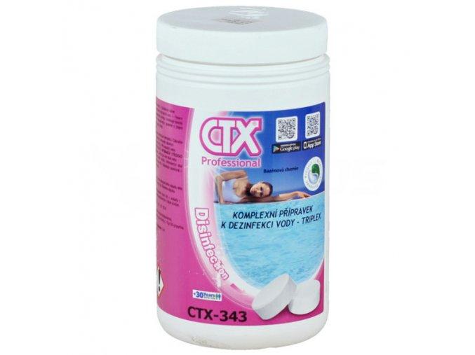 CTX-343 TRIPLEX - 20; 1 kg (chlorové pomalurozpustné 20 g tablety)