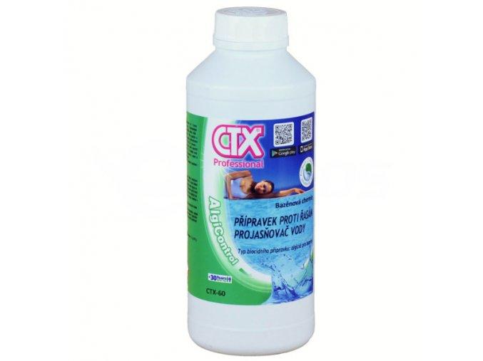 CTX-60; 1 litr (algicidní přípravek s projasňovačem vody)