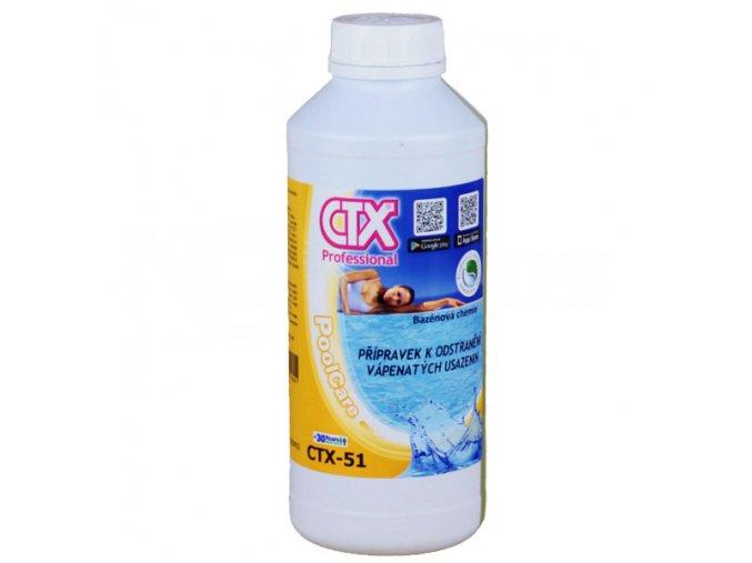 CTX-51;  1 litr (přípravek k odstranění vápenných usazenin)
