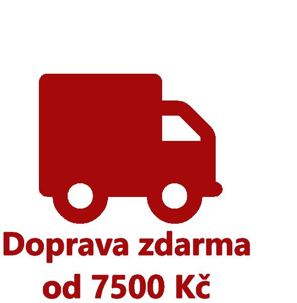 Doprava zdarma od 7500 Kč