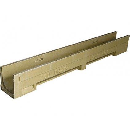 Odvodňovací žlab ACO DRAIN N100, 100 cm, s litinovým roštem