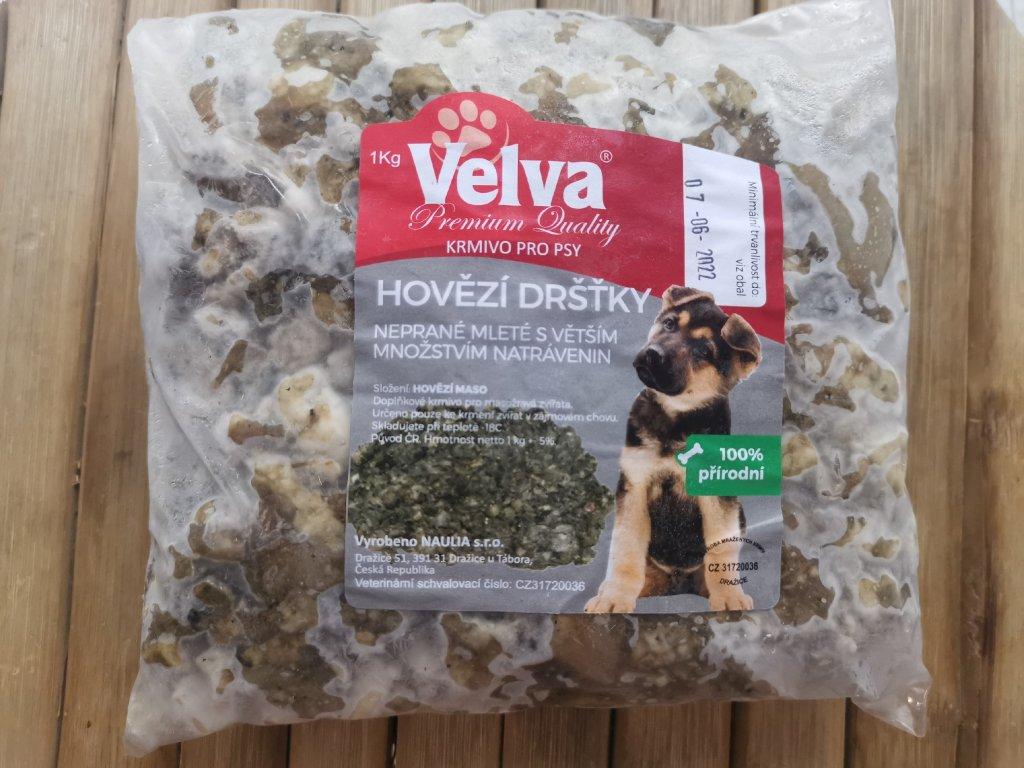 Hovězí dršťky neprané hrubě mleté 1 kg