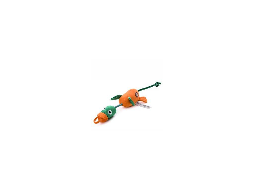 46059 jk animals plysova piskaci hracka vystrelovaci kachna 58 cm 0