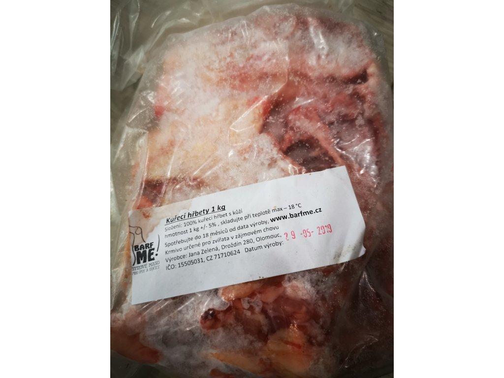 Kuřecí hřbety 1 kg - kvalita pro LK