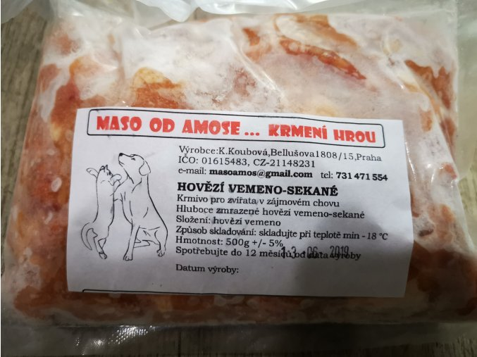 Hovězí vemínko sekané 500 g