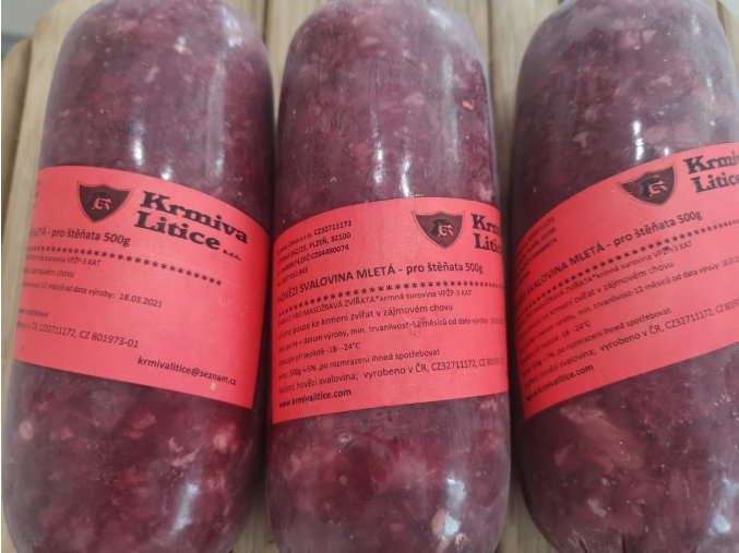 Hovězí svalovina mletá pro štěňata 500 g