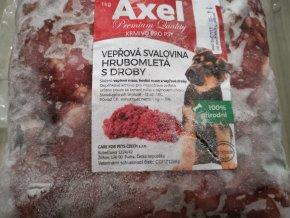 Vepřové hrubomleté s hovězími a vepřovými  droby 1 kg
