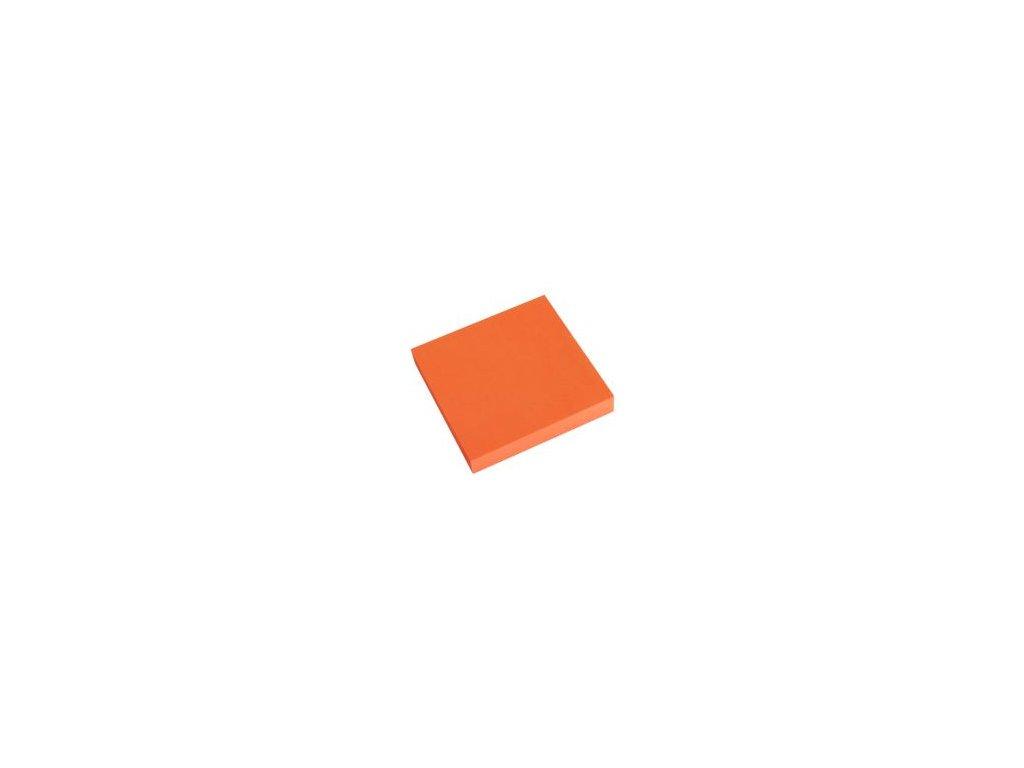 3998 sk blok kocka lepiaci neon oranz 76 x 76 mm php