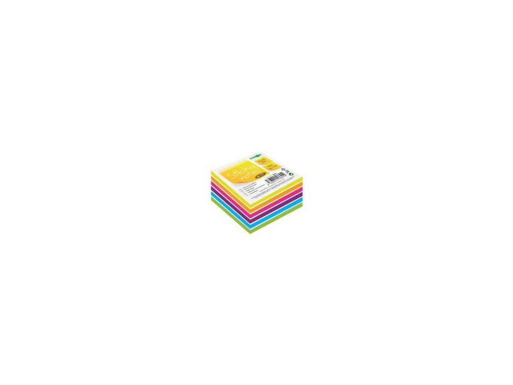blok kocka samolepiaca sticky notes neon white 76x76 mm 400 l