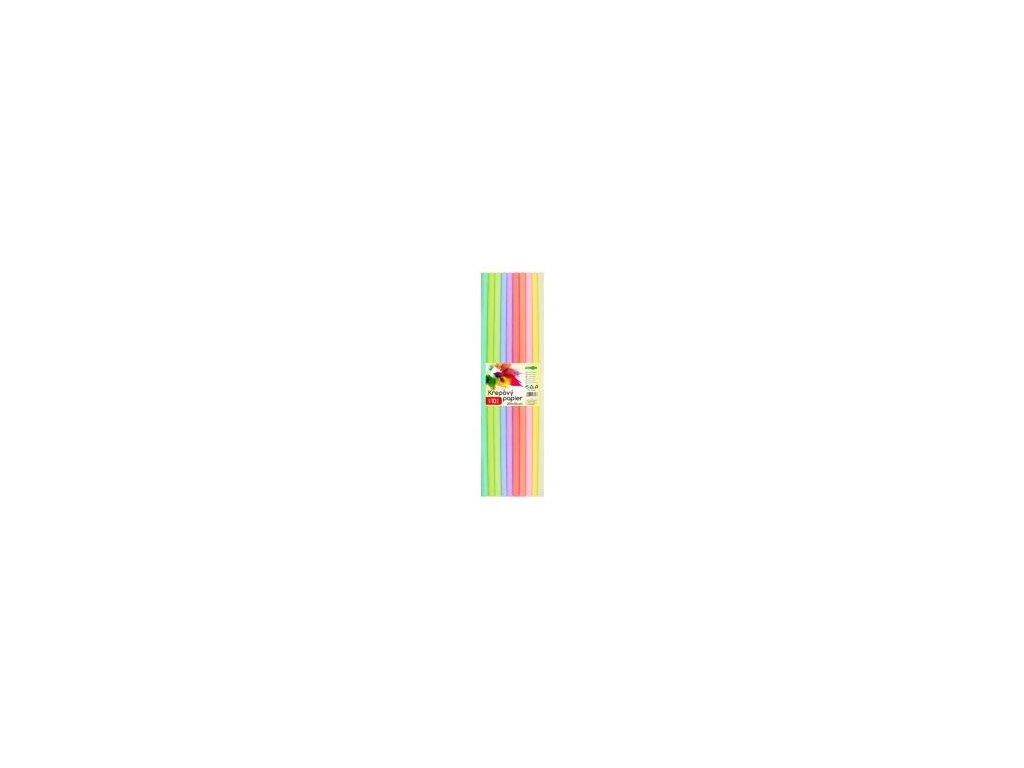krepovy papier junior sada pastel 10 ks 50x200 cm