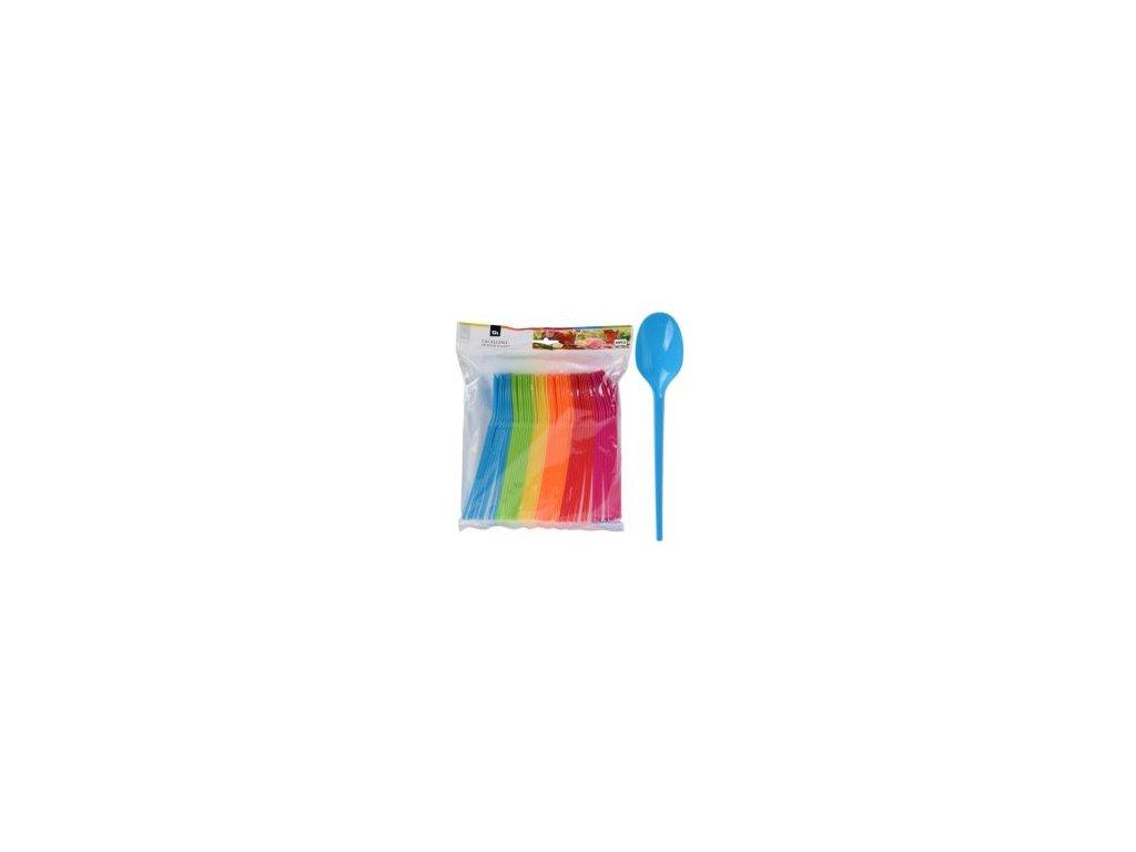 lyzicka plastova farebna sada 48 ks mix 6 farieb