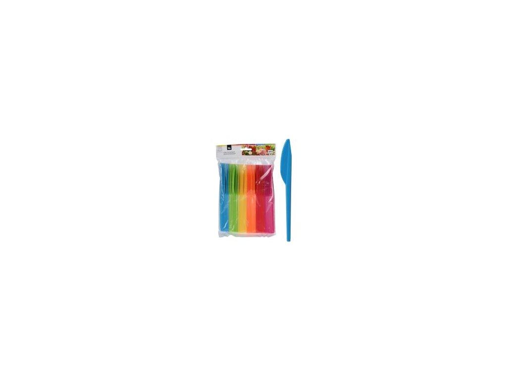 noz plastovy farebny sada 48 ks mix 6 farieb