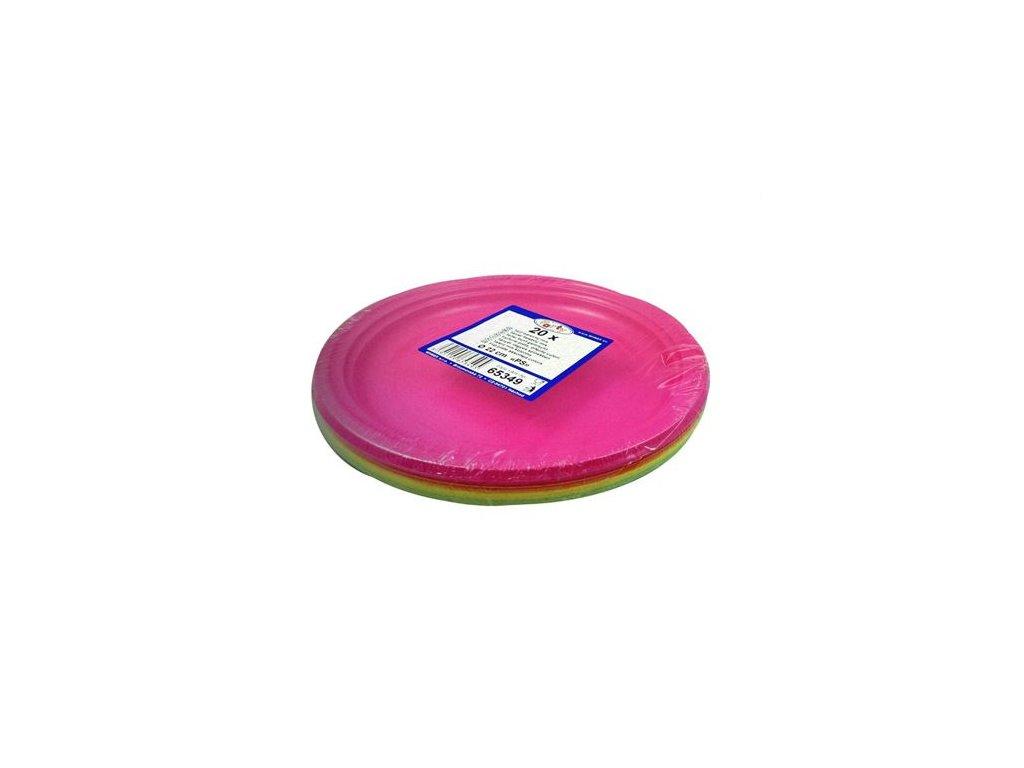 tanier farebny mix ps 22 cm 20 ks