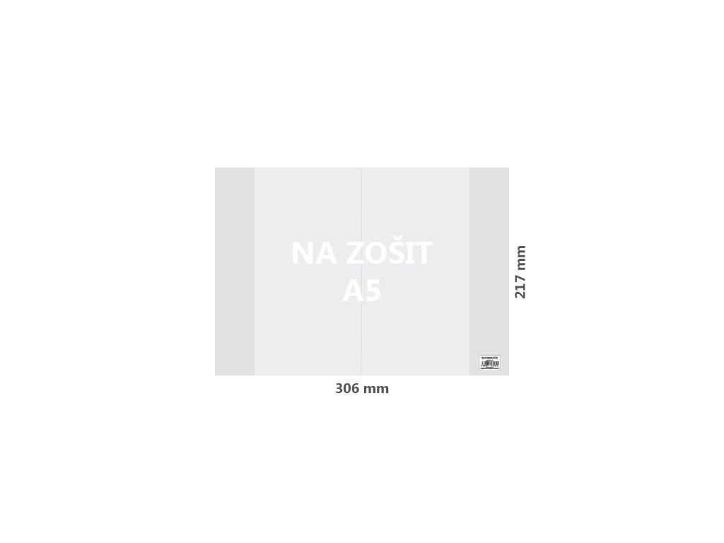 obal na zosit a5 pvc 306x217 mm hruby transparentny 10 ks