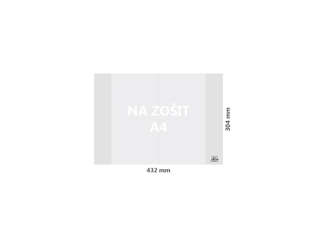 obal na zosit a4 pvc 432x304 mm hruby transparentny 10 ks