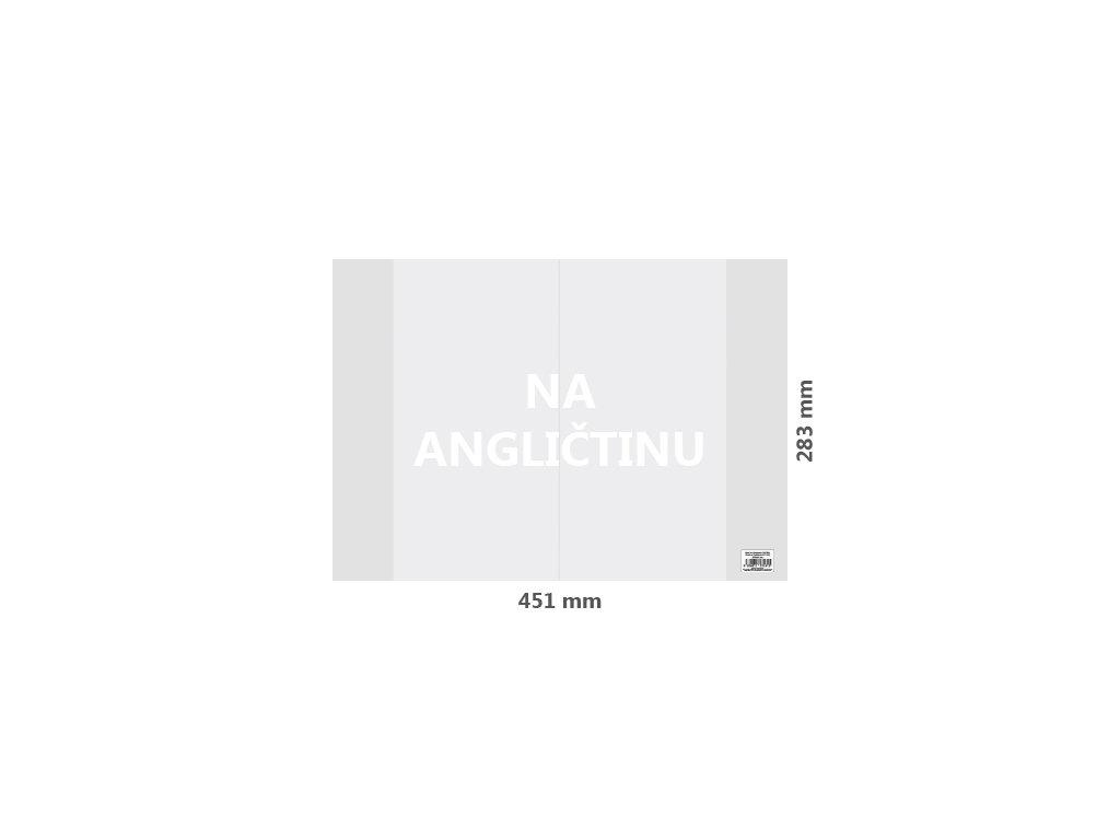 obal na anglictinu pvc 451x283 mm hruby transparentny 1 ks