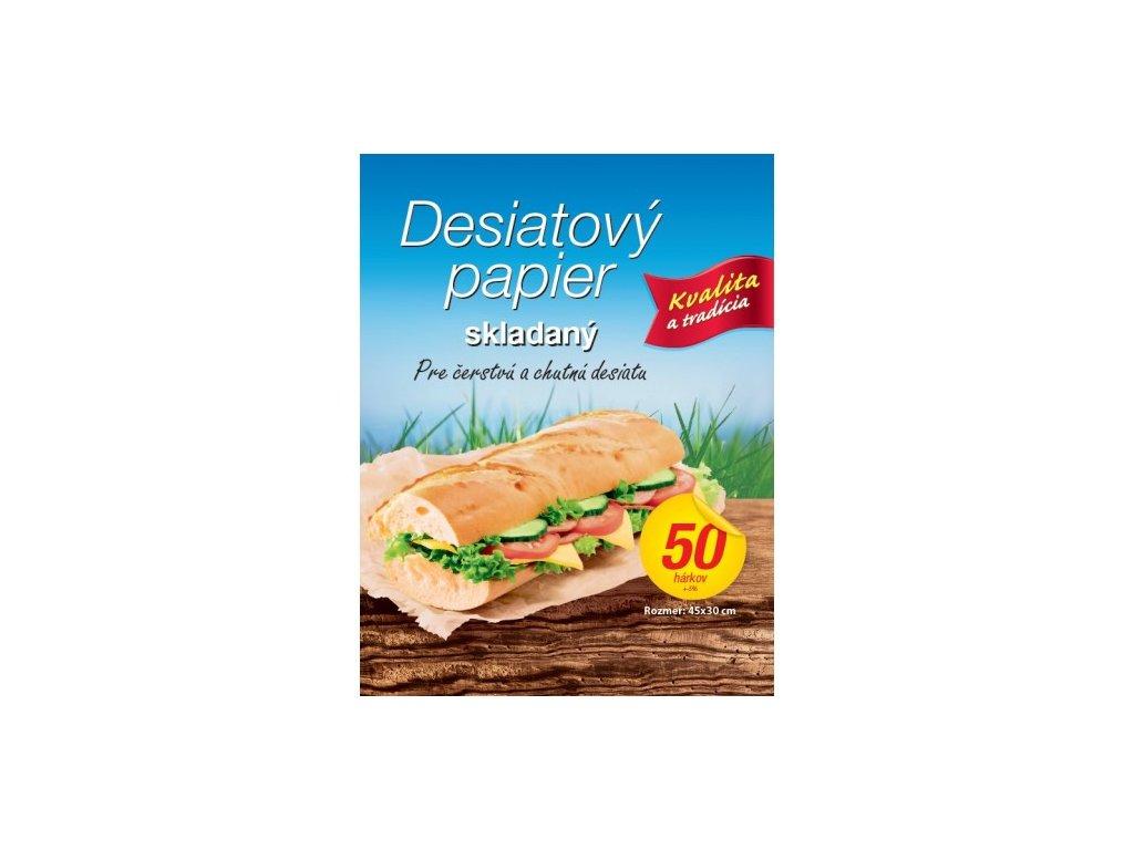 desiatovy papier skladany 50ks 45x30cm