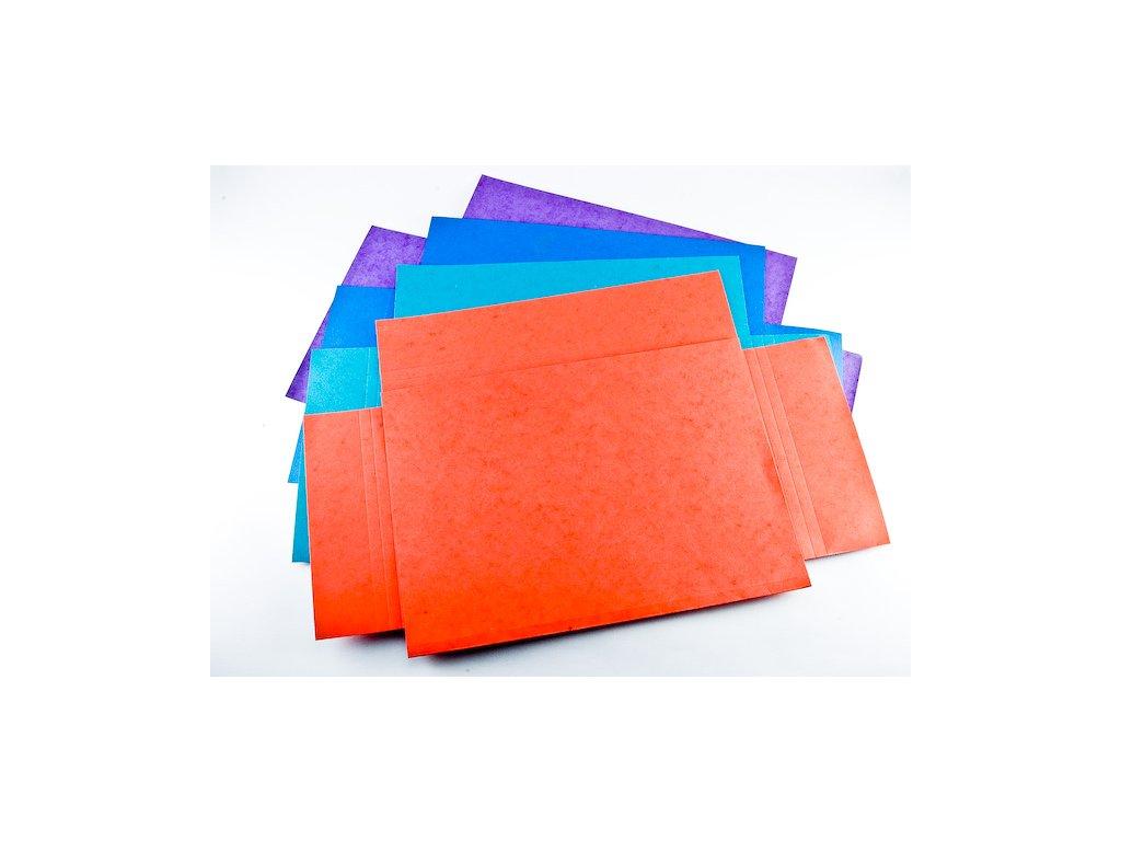 Odkladacia mapa 3 klopy A4, prešpánový, 10ks, mix farieb