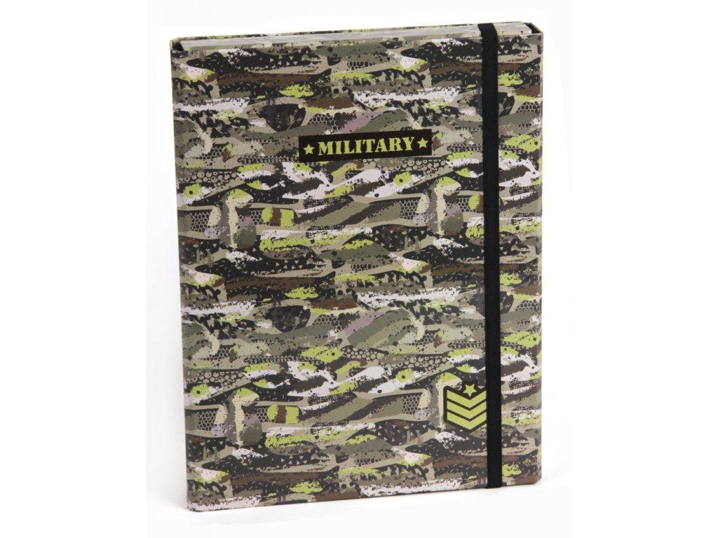 Box na zošity s klopou A4 Military