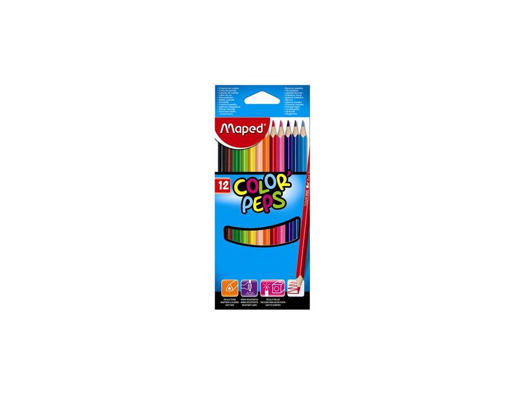 pastelky trojhranne maped color peps 12 ks