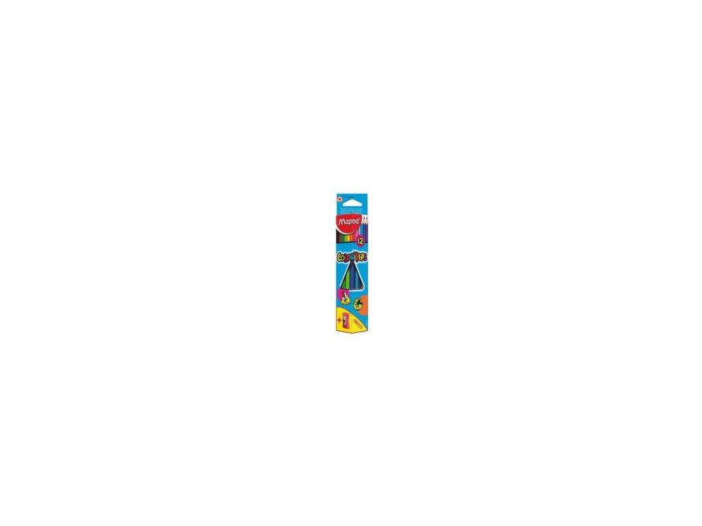 pastelky trojhranne maped color peps 12 ks struhadlo
