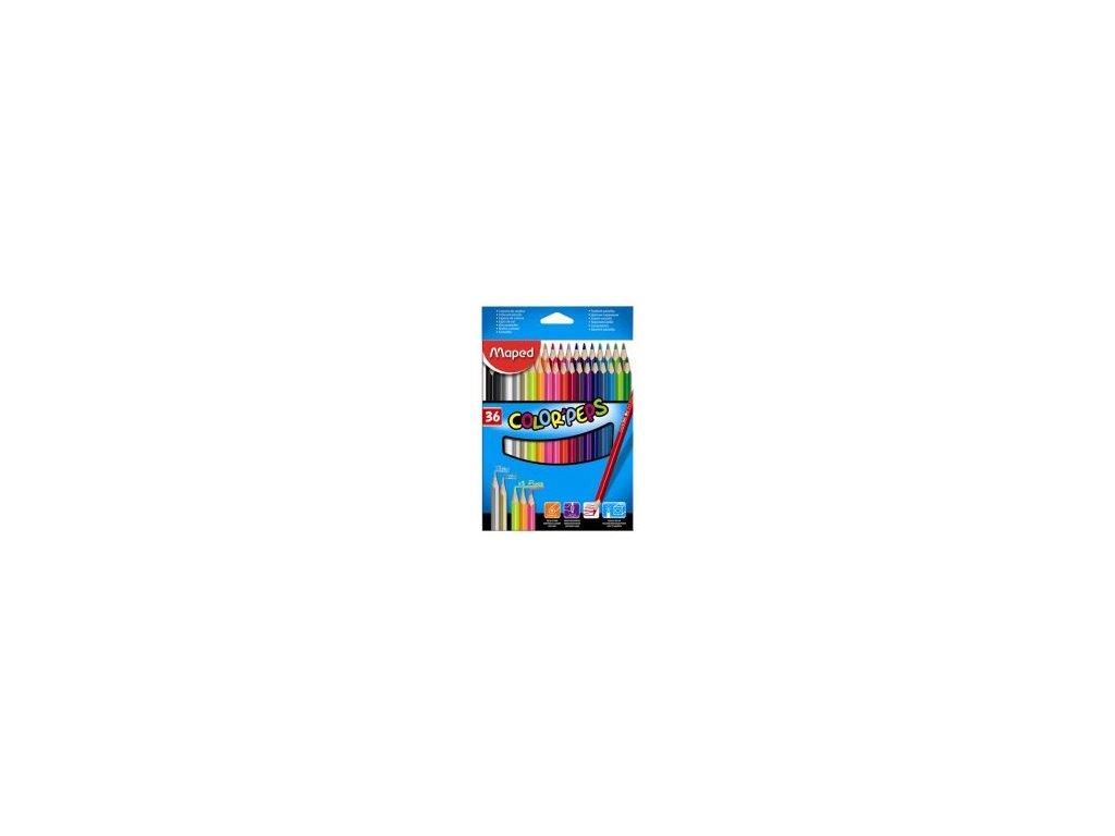 pastelky trojhranne maped color peps 36 ks