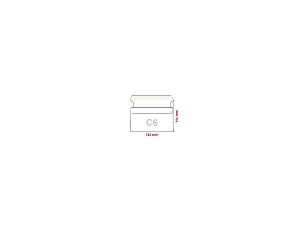 obalky c6 114x162 mm samolepiace 10 ks