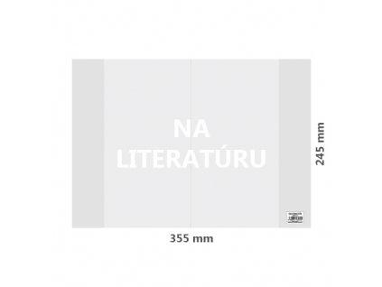 obal na literaturu pvc 355x245 mm hruby transparentny 1 ks