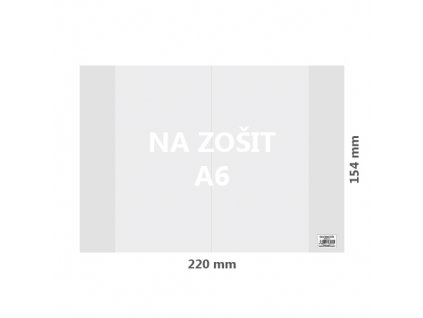 obal na zosit a6 pvc 220x154 mm hruby transparentny 1 ks