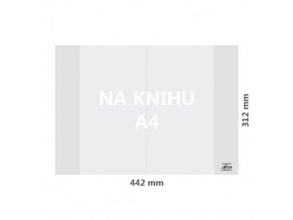 obal na knihu a4 pvc 442x312 mm hruby transparentny 1 ks