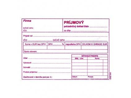 prijmovy pokladnicny doklad s dph a6 43 php