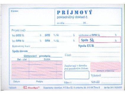 prijmovy pokladnicny doklad 2x dph