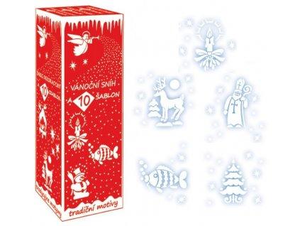 sneh + sablony