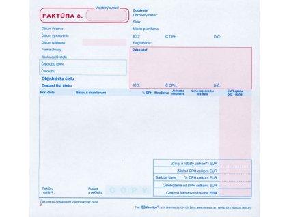 Faktúra, samoprepis, 2/3 A4 blok , ES 1060