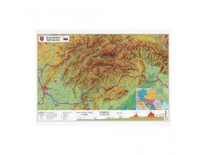 Obojstranná mapa SR, geografická a administratívna, A3