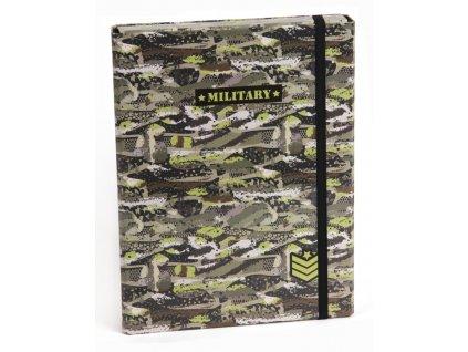 Box na zošity s klopou A5 Military