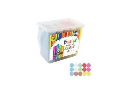kriedy farebne chodnikove okruhle 15 ks plastovy box