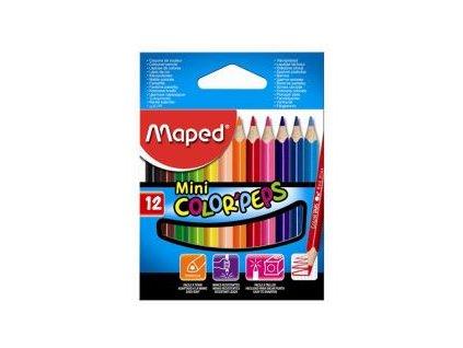 pastelky trojhranne maped color peps mini 12 ks