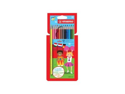farebne ceruzky sest hranne stabilo 12 roznych farieb