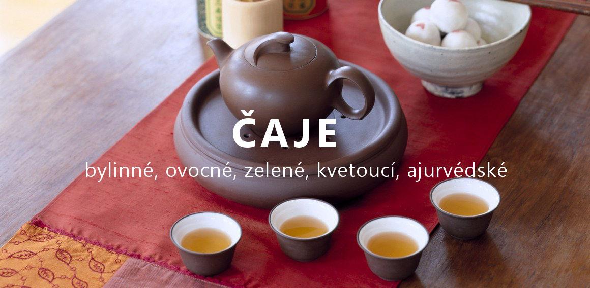 Mnoho druhů čajů sypaných i porcovaných