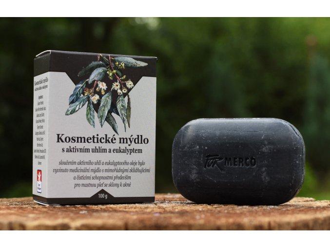 Kosmetické mýdlo s AKTIVNÍM UHLÍM a EUKALYPTEM