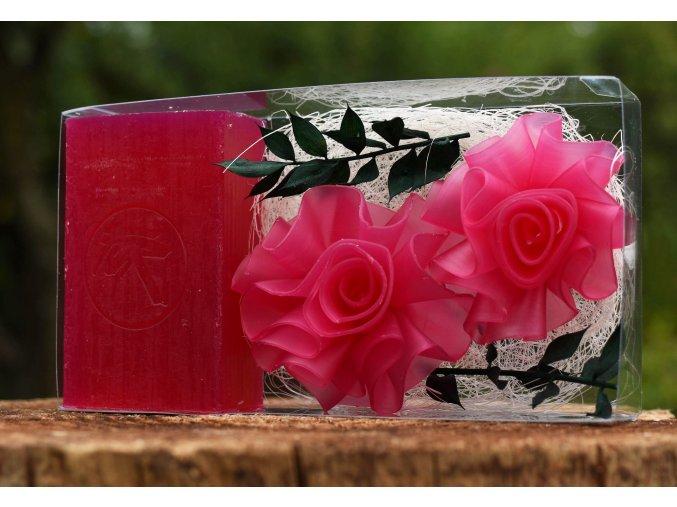 Mýdlo Růže – velká kazeta 1+2