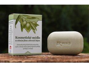 Kosmetické mýdlo se ZELENÝM JÍLEM a OLIVOVÝM OLEJEM