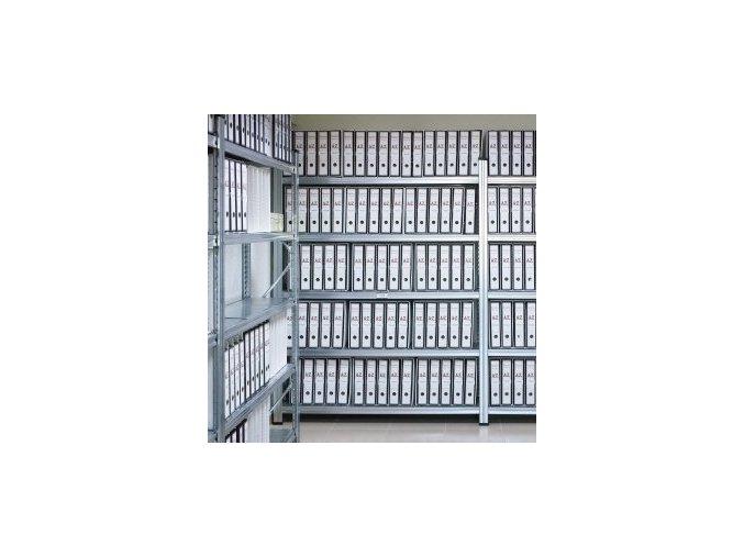 Regál do archivu výška 3,0m s kovovými policemi