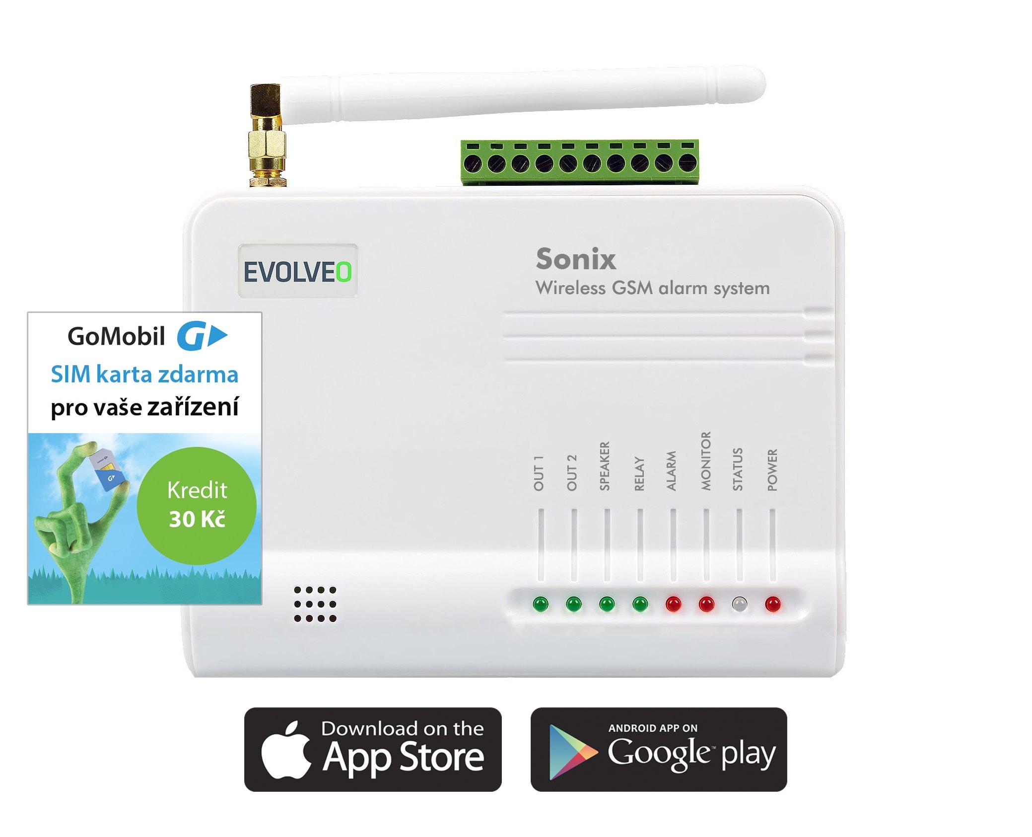 EVOLVEO Sonix - Android/iPhone GSM alarm ALM301