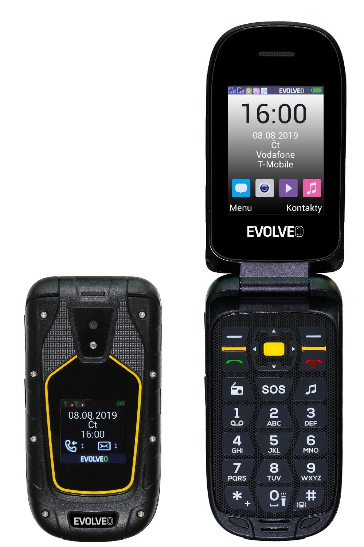 EVOLVEO StrongPhone F5, tlačítkový vodotěsný odolný telefon