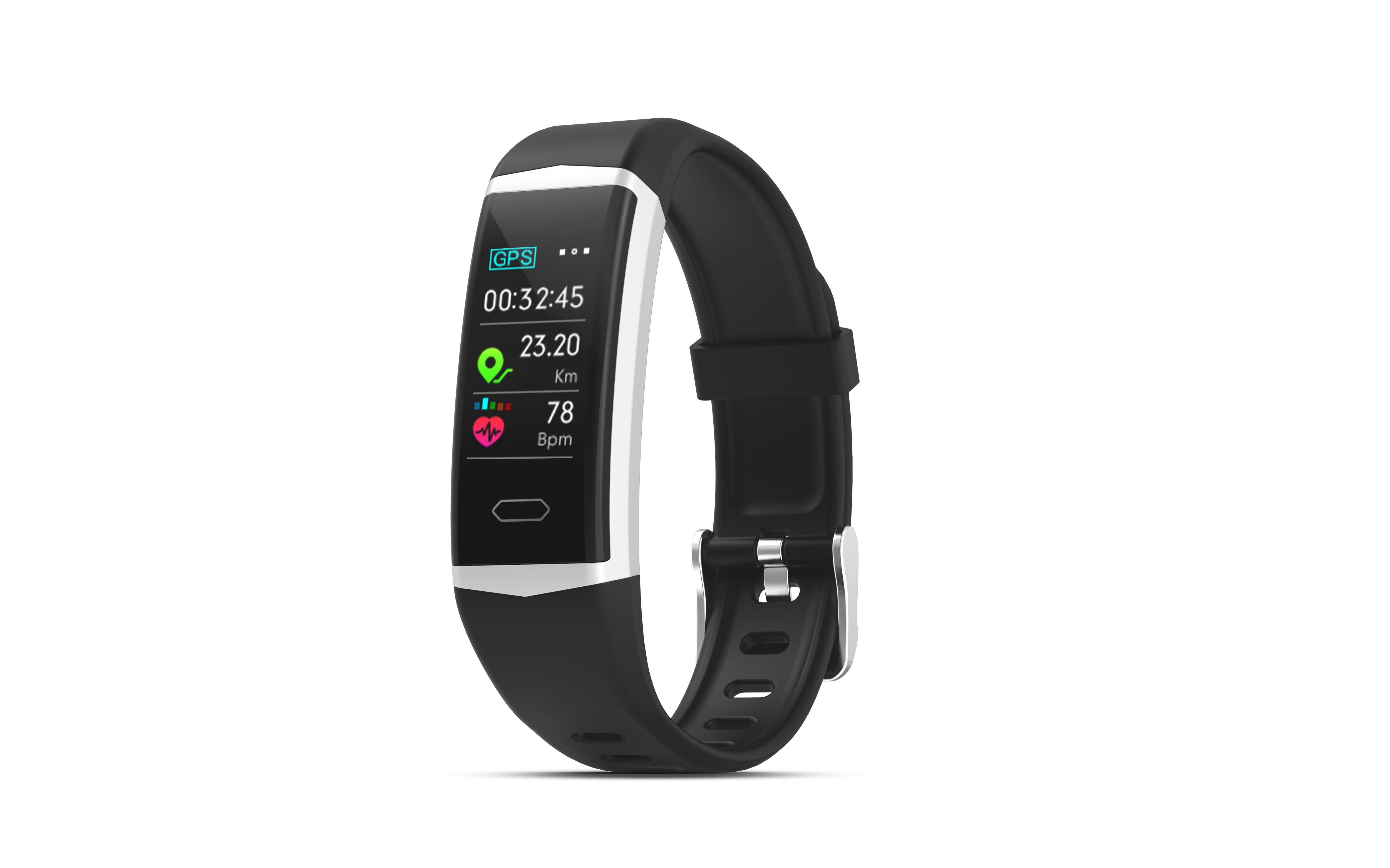 EVOLVEO FitBand B5 GPS, fitness náramek s podporou plavání a měřením tepové frekvence