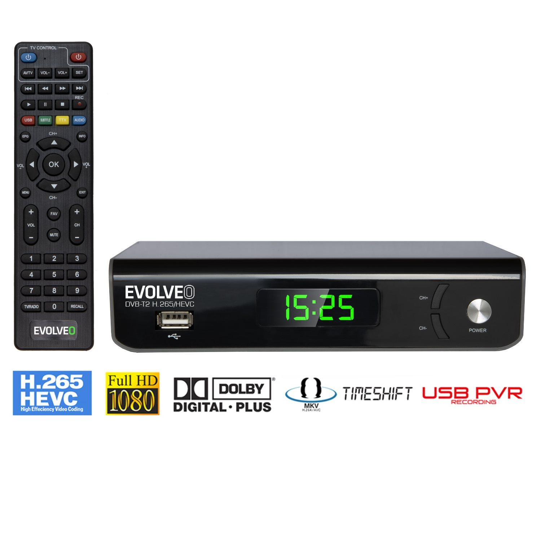 EVOLVEO Omega II, Wi-Fi HD DVB-T2 H.265/HEVC Recorder