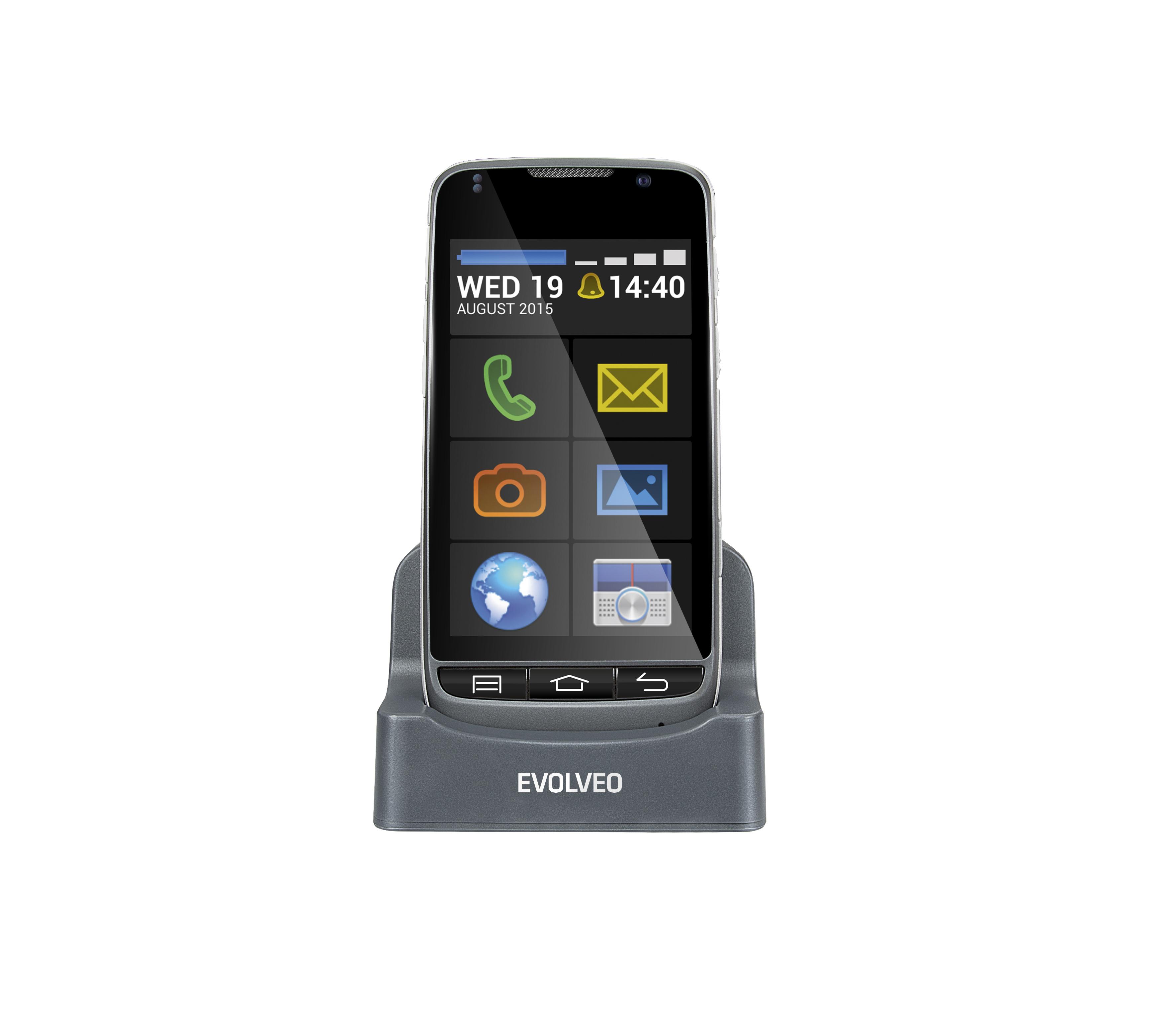 EVOLVEO EasyPhone D2, Android smartphone se snadným ovládáním a nabíjecím stojánkem